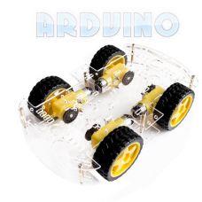 4х колісна повнопривідна двохярусна робото платформа для Arduino