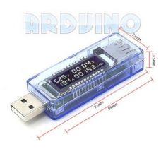 USB тестер струму напруги і ємності зарядки KEWEISI KWS-20