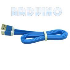 micro USB Кабель 1 м кольоровий плаский